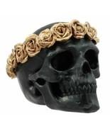 Ebros Day of The Dead Copper Rose Laurel Black Skull Figurine Sugar Skul... - £11.62 GBP