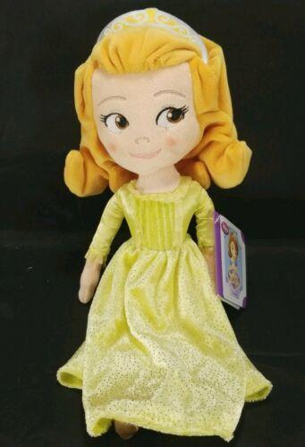 "Disney Jr Sofia The First Princess Amber Plush Doll Glitter Dress 13"" Sophia"