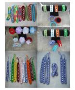 300 Assorted Random Crochet Pop Top Friendship Bracelets-Craft ShowsBead... - $20.00