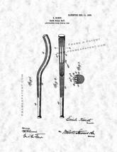 Baseball Bat Patent Print - Gunmetal - $7.95+