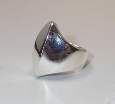 Estate RLM Robert Lee Morris Modern Hammered Sterling Silver Wave Ring S... - $42.06
