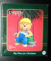 Carlton Cards Heirloom Christmas Ornament 2000 Big Plans For Christmas Boxed - $7.99