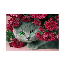 (18)DIY 5D Diamond Embroidery Painting Pink Rose Flower Painting Cross S... - $20.00
