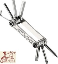 LEZYNE SV  7 BIT CNC MACHINED SILVER MULTI-TOOL BICYCLE TOOL - $24.74
