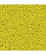 11/0 Seed Bead Rocaille Half Ounce Yellow 9 - $3.99