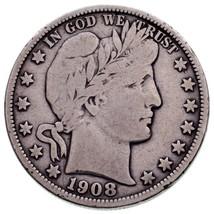 1908-O Barber 50C Demi Dollar En Fin État , Léger Gris Couleur - $57.04
