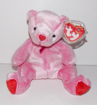 Ty Beanie Baby Romance Plush 5in Teddy Bear Stuffed Animal Retired with ... - $4.99