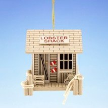 Wood Lobster Shack Coastal Christmas Holiday Ornament