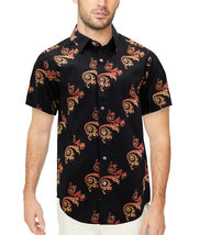 Men's Cotton Short Sleeve Casual Button Down Floral Pattern Dress Shirt image 8