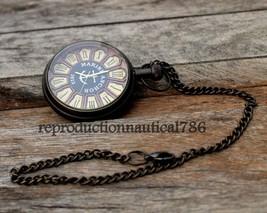 Nautical Brass Handmade Marine Watch With Chain Vintage Pocket Watch Dec... - $18.62