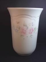 """Pfaltzgraff TEA ROSE vase or utensil holder Stoneware 6.75"""" tall - $11.31"""