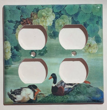 Chinese Printing Ducks Flower Light Switch Outlet wall Cover Plate Home Decor image 5