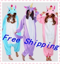 Unicorn Tenma Unisex hooded Sleepwear Kigurumi Pajamas Animal Cosplay Co... - $14.90