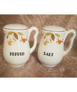 Limited Edition Hall Autumn Leaf Right Handed Salt And Pepper Shakers - $29.25