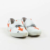 """Prada White Multi Leather """"Ben-Day Dot"""" Printed Slip On Sneakers SZ 36 - $100.00"""