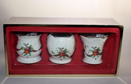 3 Lenox Holiday Tartan Votive Candle Holders Dimension Collection Origin... - $19.75