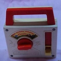1979 Fisher-Price 'Tote a Tune' # 792 Teddy Bear Picnic toy Radio - Works - $11.83