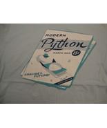 "Modern Python Retro Magazine ""Change the Future!"" Soft Light Blue T Shirt M - $17.17"