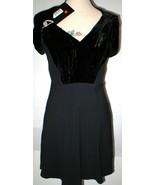 New Womens 4 NWT Italy Prada Dress Black 40 Velvet Silk Acetate Short Sl... - $2,000.00
