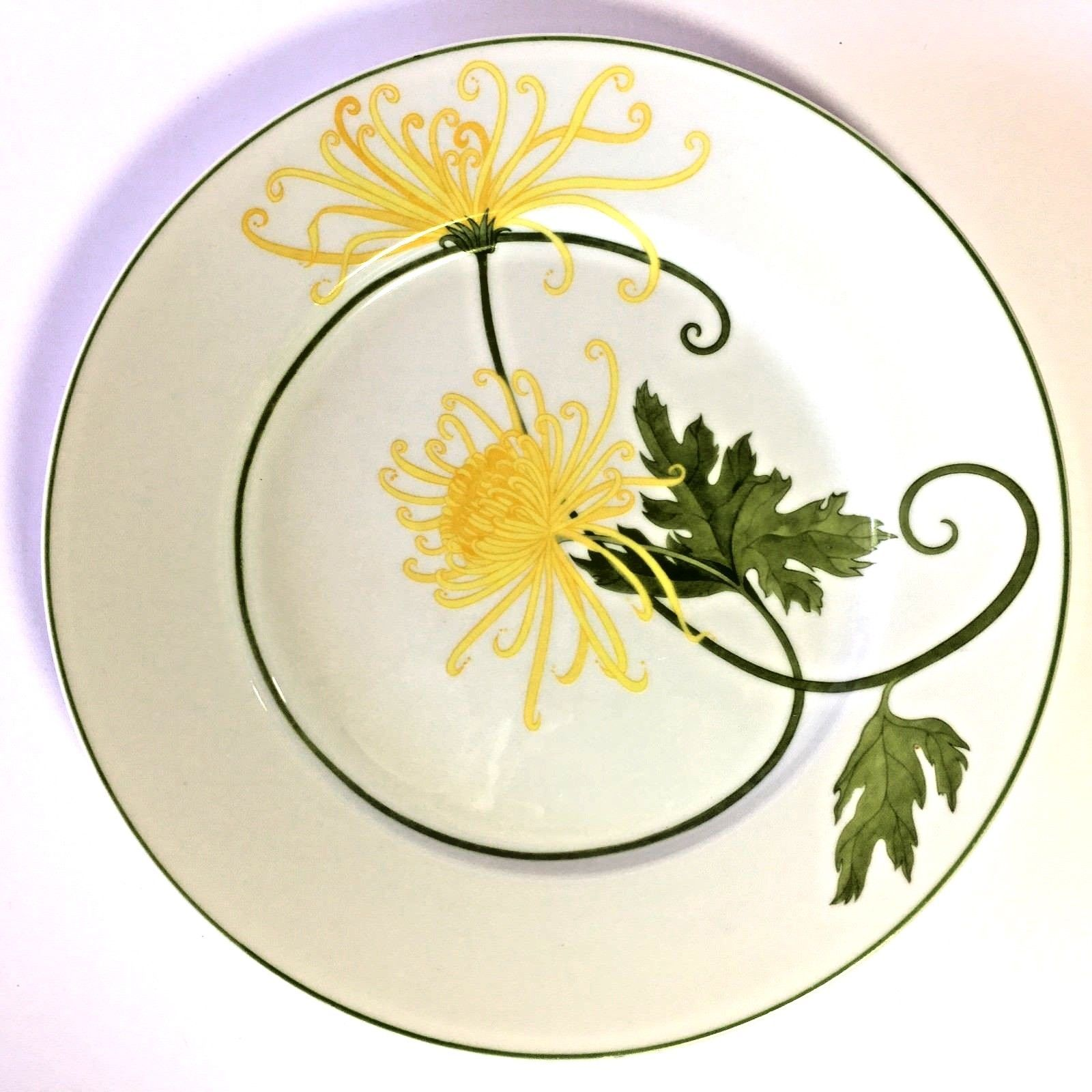 """Denby Fine China Dreaming Yellow Flowers/Portugal/VintagePlate/Mint/10 1/2"""" - $18.95"""