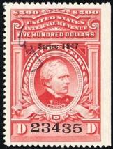 R484, $500 VF 1947 Documentary Revenue Stamp Cat $250.00 - Stuart Katz - $225.00