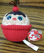"Ty Baby Beanies Holiday COCO 3"" Gingerbread Cupcake Ornament Plush Toy D... - £7.73 GBP"
