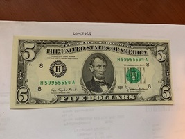 United States Lincoln uncirc. banknote 1977 #1 (check the serial number) - $24.95