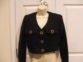 New In Pkg Frederick's Of Hollywood Vintage Denim Jacket Jr Small 3-5 - $20.79