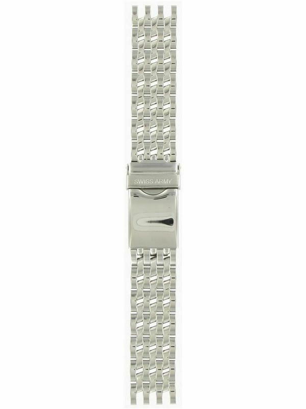 "Swiss Army Cavalry II 17mm Silver Tone Stainless Steel Metal Watch Band ""09320"" - $75.00"