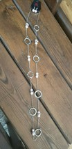 Paparazzi Long Necklace & Earring set (new) #322 PINK PEARLS CIRCLES - $7.61