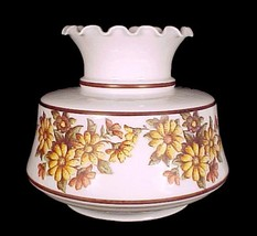 Milk Glass Floral NeedlePoint Student Lamp Shade 7 in Desk Table Wall Sc... - $29.95