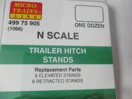 Micro-Trains # 49975905 (1066) Trailer Hitch Stands for Flatcars 12 Pack N-Scale image 3