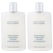 2 x ISSEY MIYAKE L'Eau D'Issey Soothing After-Shave Balm 3.3oz NEW Unboxed - $63.36