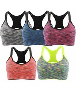 EMY Sports Bra for Women Space Dye Removable Pads for Yoga Running Fitne... - $27.54+
