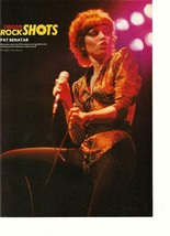 Pat Benatar teen magazine pinup clipping Rock Shots Tiger Beat Bop - $3.50