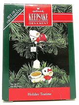 Hallmark Keepsake Christmas Ornament Holiday Tea Time Mice Two Piece Set... - $12.86