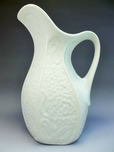 Fioriware Jardinware Embossed Floral Vase Pitcher Pottery Zanesville Ohi... - $34.65