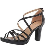 Naturalizer Womens Cecile Black Leather Heeled Sandals 8.5 M - $45.37