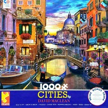 """NEW 1000 Piece Jigsaw Puzzle Ceaco David Maclean Cities 29"""" x 19"""", VENICE ITALY - $23.70"""