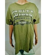 HARLEY DAVIDSON T-SHIRT FROM SUNRISE FL M DISTRESSED COOL EAGLE OLIVE GREEN - $12.59