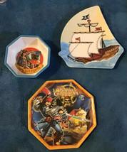 Pirates of the Caribbean Melamine Plate & Bowl Zak Pirate Ship Shaped Pl... - $19.79