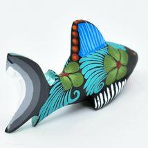 Handmade Alebrijes Oaxacan Copal Wood Carving Painted Folk Art Shark Figurine image 4