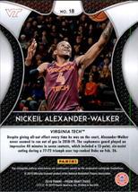 Nickeil Alexander-Walker 2019-20 Panini Prizm Draft Picks Rookie Card #18 image 2