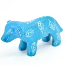 Vaneal Group Hand Crafted Carved Soapstone Light Blue Standing Puppy Dog Figure image 2