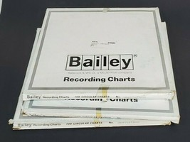 """LOT OF 3 BOXES OF 100 NEW BAILEY 250F700T30 RECORDING CHARTS 11.125"""" 00045492"""