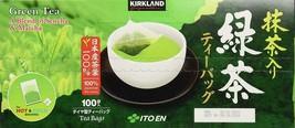 100 Count Kirkland Signature Ito En Matcha Japanese Green Tea Bags Free Shipping - $27.10
