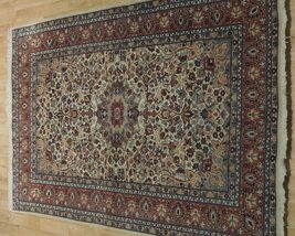 Ivory Wool Carpet 5 x 7 Fine Quality Reproduction Traditional Handmade Rug image 3