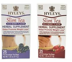 Hyleys 100% Natural Slim Tea Goji and Acai Flavor (25 Teabags each) - $14.99
