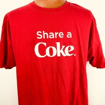 Share a Coca Cola Names Red T Shirt Size 2XL Hanes Cotton Drink Bottle  - $28.70