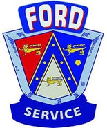 "Ford Crest 30"" Plasma Cut Metal Sign - $135.00"